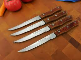 Serrated Kitchen Knives Maxam Japan Vintage 4 Set Stainless Serrated Steak Knives
