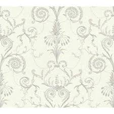 Modern Trellis Wallpaper Black And White Neo Classic Damask Wallpaper Ivory Warm Tan Light