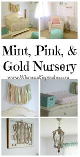 Pink And Gold Bedroom by Sadie U0027s Mint Pink And Gold Nursery Whimsical September