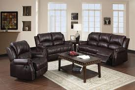 Microfiber Reclining Sofa Sets Josef 2pcs Brown Polished Microfiber Reclining Sofa Set Shop For