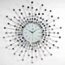 large mirrored wall clock 3410
