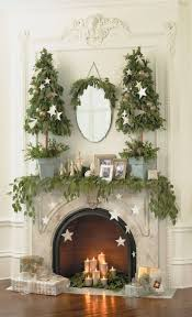 decorating a fireplace without mantel for christmas interior