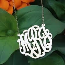 monogram necklaces silver monogram necklaces silver castle goods