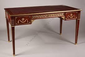 a louis xvi style bureau plat tobogan antiques