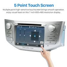 lexus rx300 audio system pure quad core android 5 1 1 in dash dvd gps system for 2004 2010