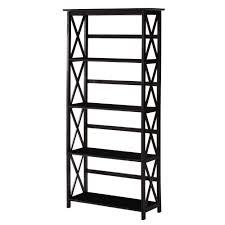 home decorators collection montego black open bookcase 0218410210