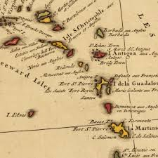 Map Caribbean Caribbean 1750s European Claims U0026 Theater Of War Map Battlemaps Us