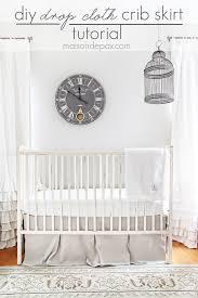 Crib Bed Skirt Diy Diy Drop Cloth Crib Skirt Diy Crib Crib Skirts And Crib