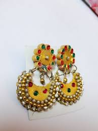 chandbali earrings attractive chandbali earrings with pearls and stones all ap