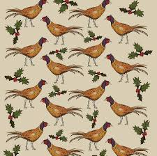 christmas wrap pheasant christmas wrapping paper gift set by