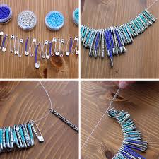 wonderful diy beaded safety pin jewelry