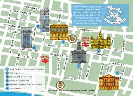Map Of Glasgow Scotland Glasgow Lawyers Heritage Trail Map U2014 Illustration Etc