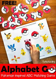 printable alphabet recognition games alphabet go a pokemon inspired letter matching game letter case