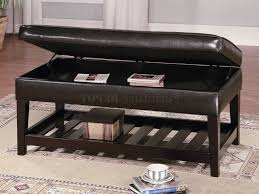 furniture leather top coffee table ideas black rectangle storage