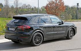 porsche cayenne black 2018 porsche cayenne spied inside and out with cleaner look