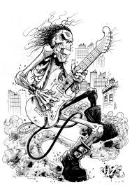 skull guitar 2 by cazitena on deviantart