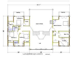 Post And Beam Floor Plans The North Bend U2013 Taron Design Inc Log Home Plans