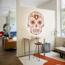 wall stickers home decor mexican sugar skull wall art stickers home decoration vinyl wall