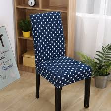 online get cheap white chair covers aliexpress com alibaba group fxxxy blue universal stretch chair covers for dining room 1pc white dots removable machine washable