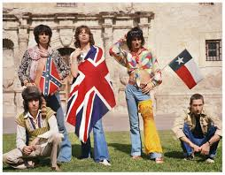 Texas State Flag Image The Rolling Stones 1975 Photo Shoot At The Alamo In San Antonio