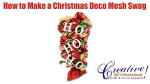 decorating a christmas deco mesh swag using a work rail youtube