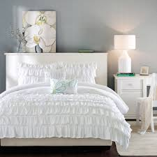 Full Bed Comforters Sets Bedroom Wonderful Ruffle Comforter For Excellent Bedding Design