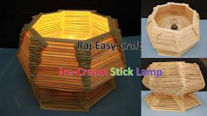 Crazy Lamps How To Make Ice Cream Stick Lamp Popsicle Stick Lamp Diy