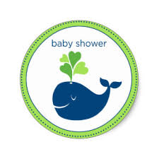 whale baby shower whale baby shower stickers zazzle