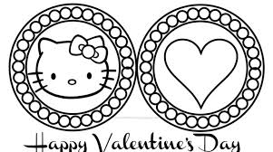 valentine kitty coloring book pages gekimoe u2022 21901
