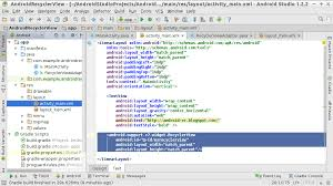 matrix layout xml view android er place recyclerview in layout xml