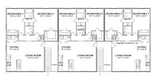 Multi Unit Apartment Floor Plans 6 Unit Apartment Plan Multi Family J0418 11 6