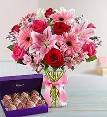 pink lilies gazer lilies roses pink gerbera daisies hot pink roses