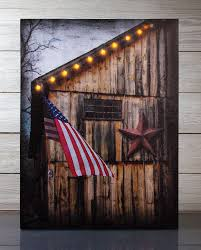 lighted canvas art with timer radiance lighted canvas americana barn and flag with timer barn