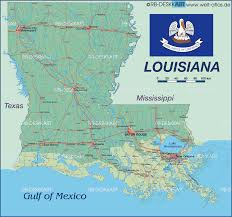 Maps Of Louisiana by Map Of Louisiana New Orleans United States Map In The Atlas Of