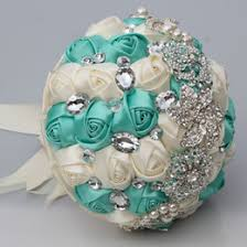 Quinceanera Bouquets Discount Ivory Blue Bridal Bouquets 2017 Ivory Blue Bridal