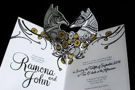 pop up wedding invitations pop up wedding invitations black white gold