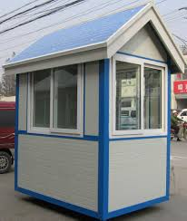 buy prefabricated steel structure sentry box 004 style with good