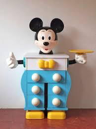 Mickey Mouse Furniture by Pierre Colleu For Starform Mickey Mouse Pair Of Chests Of Drawers