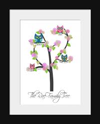 owl family tree print