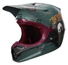red motocross helmet fox racing v3 boba fett le helmet revzilla