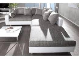 canape gris et blanc canapé d angle modulable loft blanc gris par decobrico