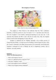 Irony Worksheet The Songkran Festival Worksheet Free Esl Printable Worksheets