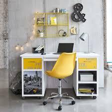 chaise bureau jaune chaise de bureau à roulettes jaune maisons du monde
