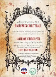 halloween save the date american women u0027s club of the philippines awcp halloween charity ball