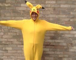 Halloween Costumes Pikachu Pikachu Costume Etsy