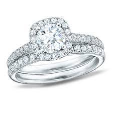 white gold bridal sets 1 70 ct t w diamond framed bridal set in 14k white gold
