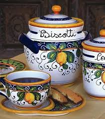 italian kitchen canisters 34 best biscotti s images on cookies italian pottery