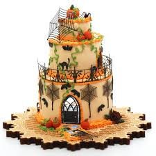 halloween cake house kit now comes with wallpaper stewart