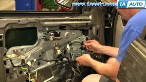 how to install replace power window motor front cadillac deville