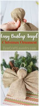easy burlap ornament craft laundry